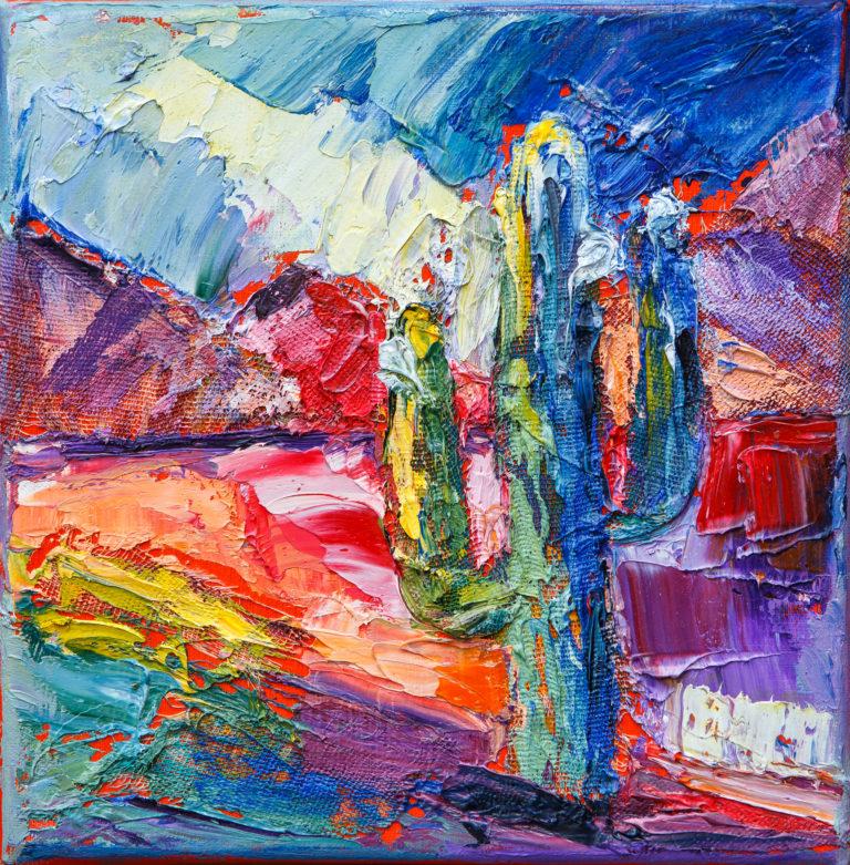 <titulo-obra>Cardón</titulo-obra><br><desc-obra>20 x 20 cm - Mixta, óleo,  collage</desc-obra>