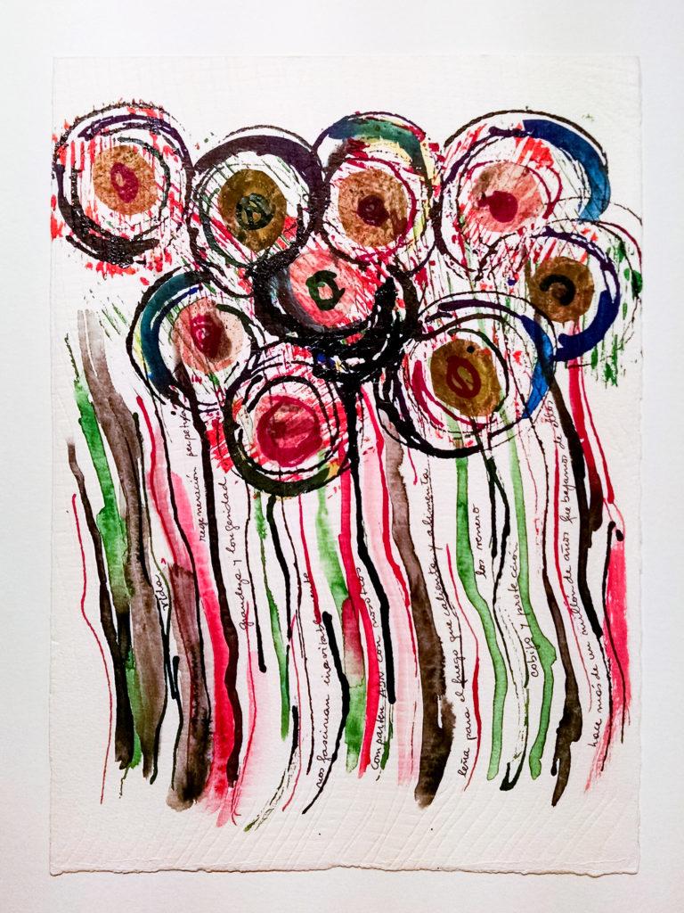 <titulo-obra>El juego del árbol</titulo-obra><br><desc-obra>25 x 35 cm - Mixta sobre papel, tinta, collage</desc-obra>