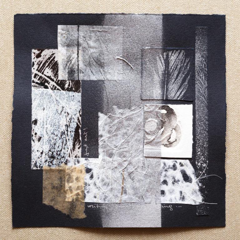 <titulo-obra>Just art</titulo-obra><br><desc-obra>20 x 20 cm - Mixta sobre papel, tinta, collage</desc-obra>