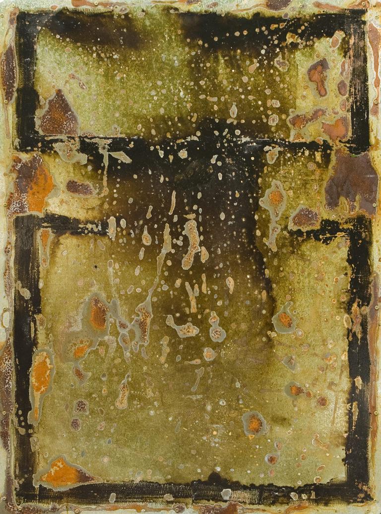 <titulo-obra>Mujer en el espejo</titulo-obra><br><desc-obra>70 x 100 cm - Mixta sobre chapa, óleo,  collage</desc-obra>