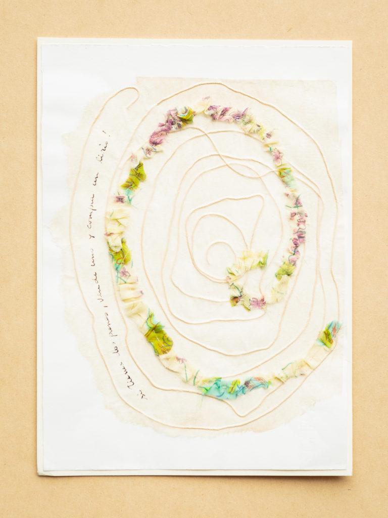 <titulo-obra>Panes y liriros</titulo-obra><br><desc-obra>25 x 35 cm - Mixta sobre papel, tinta, collage</desc-obra>