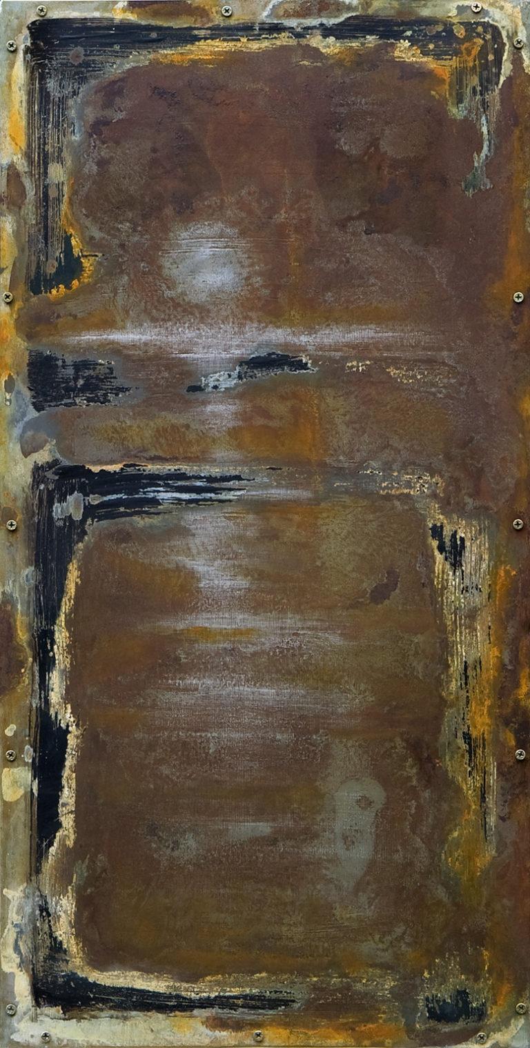 <titulo-obra>Sunrise</titulo-obra><br><desc-obra>35 x 70 cm - Mixta sobre chapa, óleo,  collage</desc-obra>