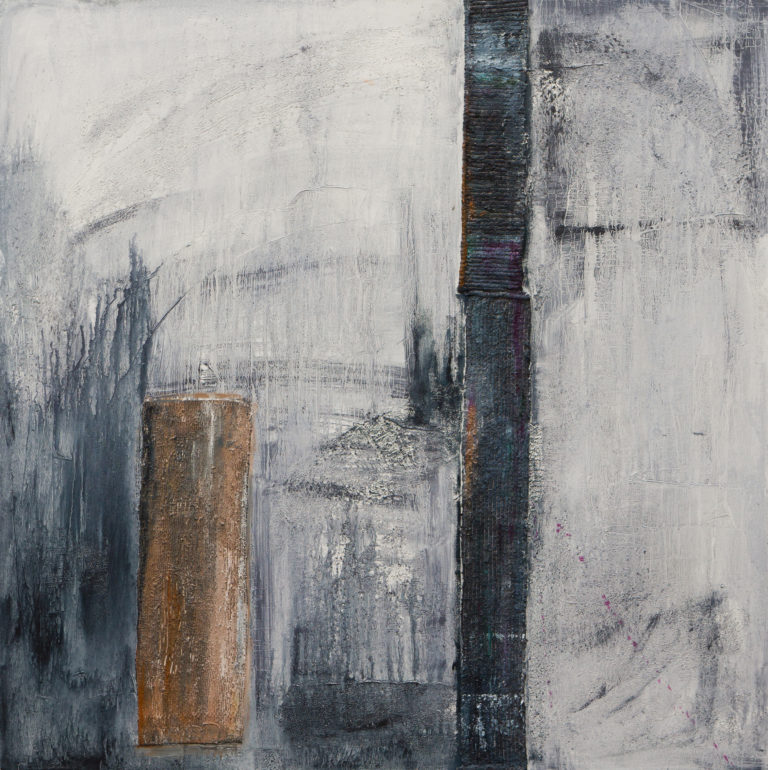 <titulo-obra>Urbano</titulo-obra><br><desc-obra>100 x 100 cm - Mixta sobre tela , óleo,  collage</desc-obra>